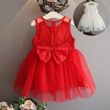 02019夏裝新款韓版蕾絲拼接女童連衣裙 背心裙廠家直銷一件代發