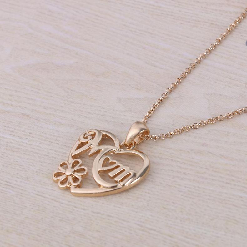 folk-custom alloy plating necklace (K gold)NHBJ0297-K gold