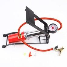 車用單管腳踩高壓打氣筒 腳踏打氣泵 車載充氣機 汽車打氣泵禮品