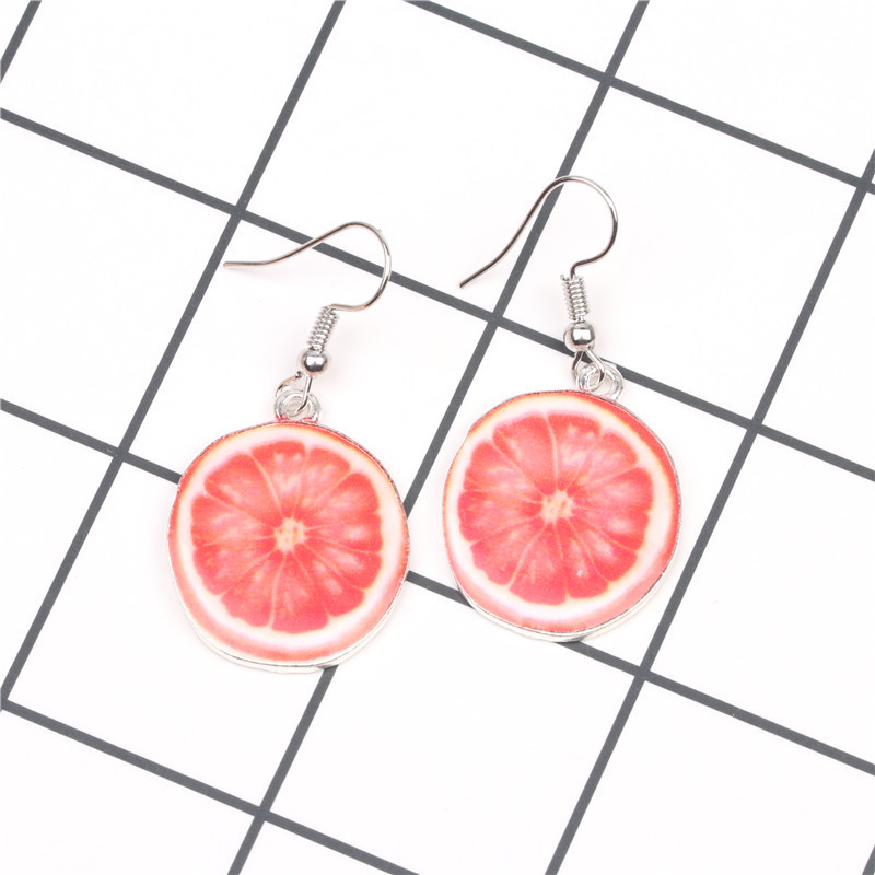 Alloy Fashion Geometric earring  (Red pomelo) NHYL0145-Red-pomelo