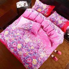 新款家紡蘆薈棉四件套單雙人床上用品4件套床單被套被罩特價批發