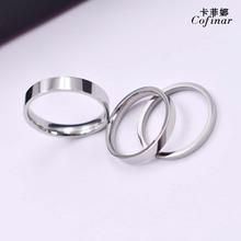 钛钢情侣戒指批发厂家直销 一手货源个性简约光面电镀不锈钢指环