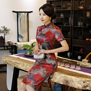 Chinese Dress Qipao for women Retro women traditional cheongsam ress with large size Robes chinoises