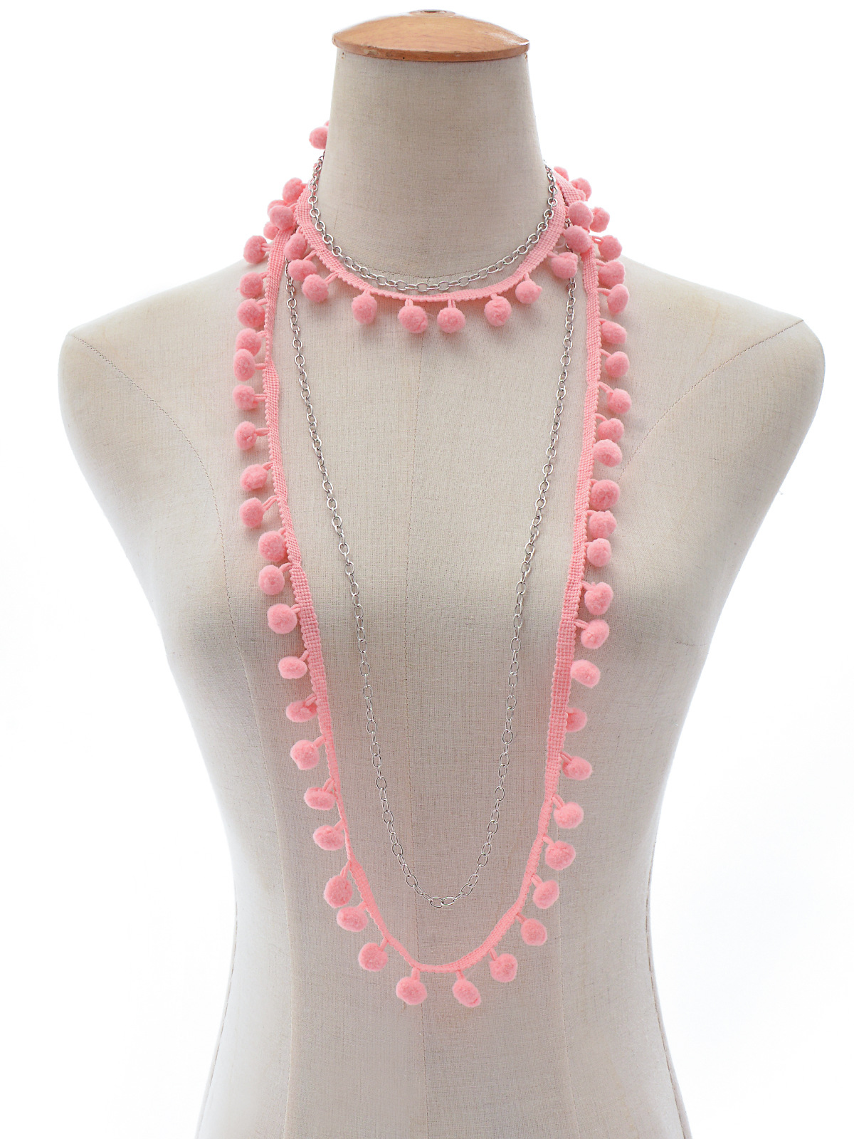 Occident and the United States alloy plating necklace (C2174 Pink)NHXR1452-C2174 Pink