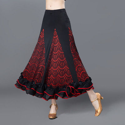 Women's ballroom dance skirts modern national standard social dance practice performance skirts for female