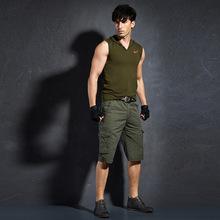 夏季纯棉男士6六分裤工装短裤青年多口袋休闲裤子男多兜裤1代发货
