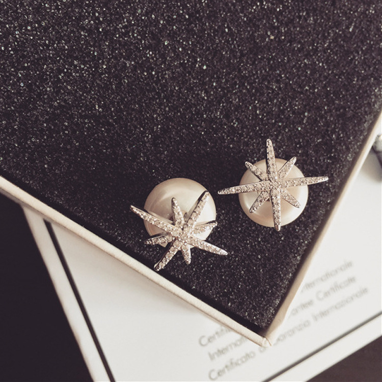 Womens Star Plating Alloy Earrings NHNT155024