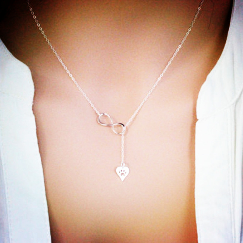 Fashion copper chain hollow cat claw alloy necklace NHCU146550