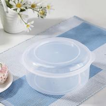 生产厂家现货批发日用百货塑料碗环保保鲜盒中号透明圆形饭盒礼品