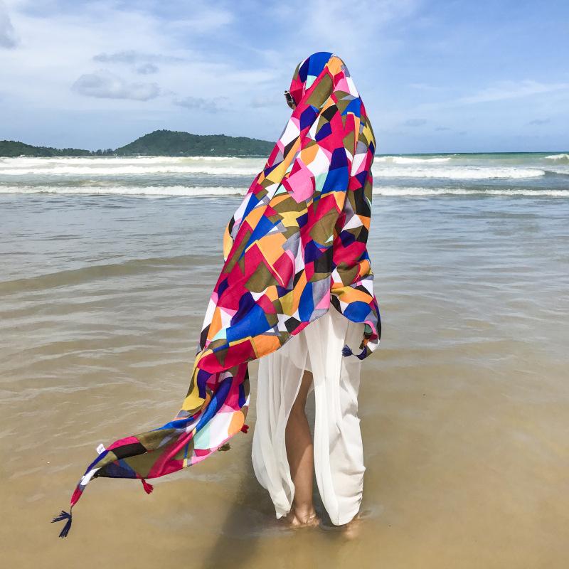 Cloth KoreaBeach towel(Color geometry) NHCM1272-Color geometry