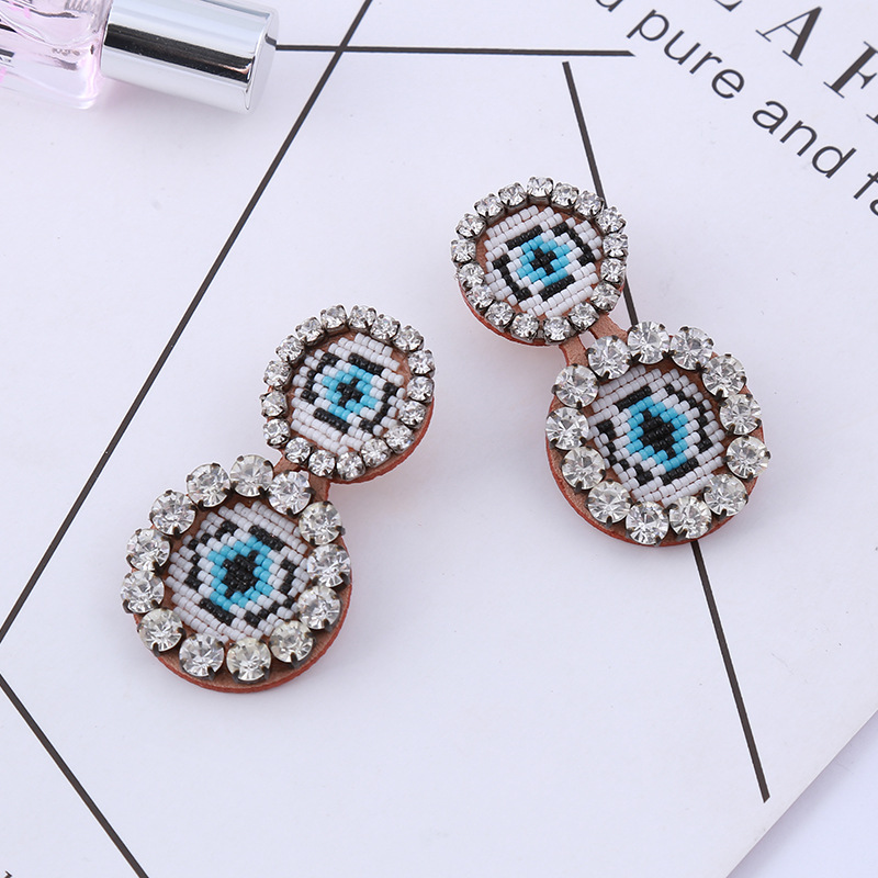 Imitated crystal&CZ Bohemia bolso cesta earring  (Red love) NHTH0002-Red-love