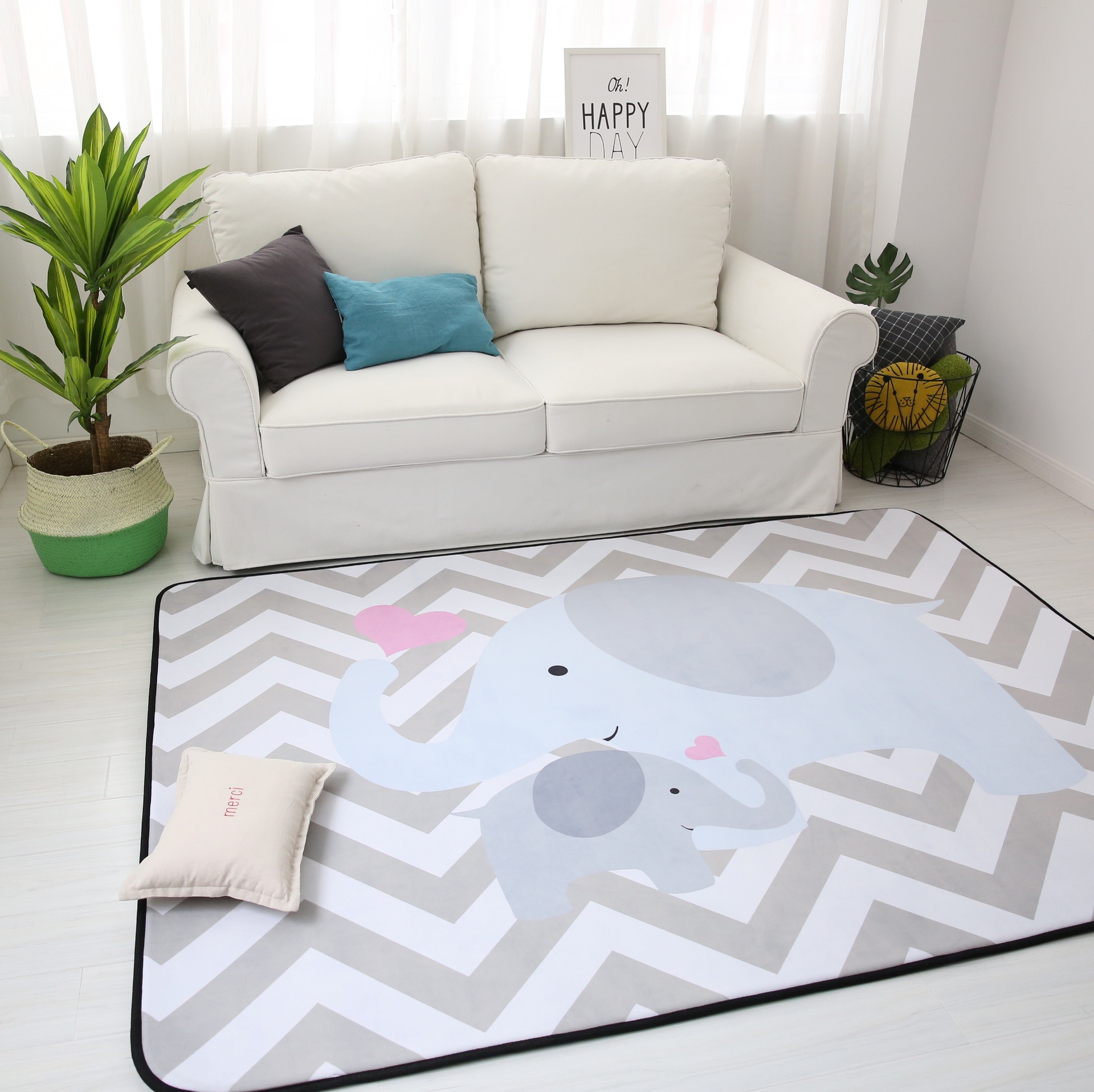 150X200CM Thick Cartoon Carpets For Living Room Soft Rugs For