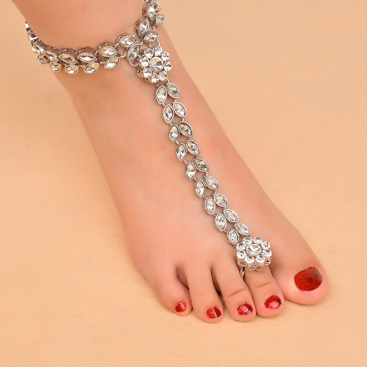 Simple alloy Diamond Anklet (H0141 silver)NHXR1481-H0141 silver