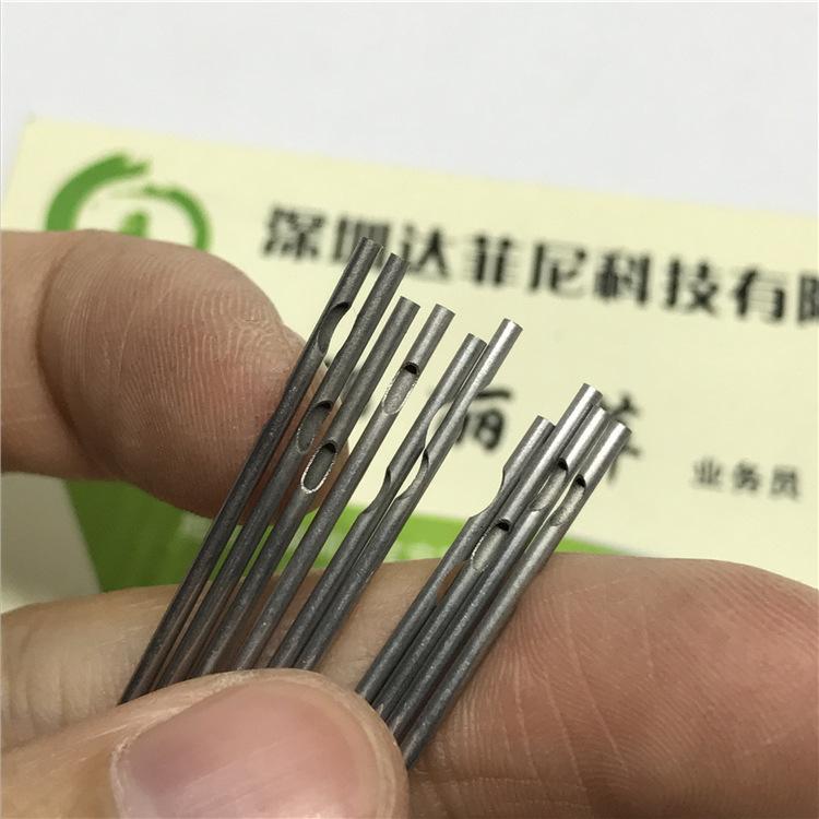 工厂精密不锈钢管切断 304/316无缝毛细管割槽口 激光开孔加工