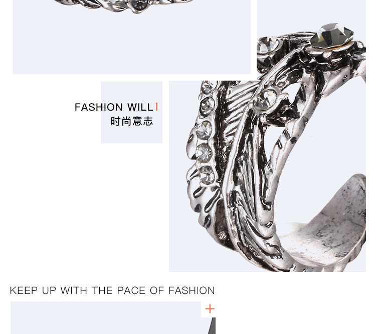 Alloy Vintage Geometric Ring  (Ancient alloy) NHTF0066-Ancient-alloy