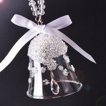 厂家直销圣诞树挂件装饰水晶风铃车挂铃铛汽车饰品一件代发