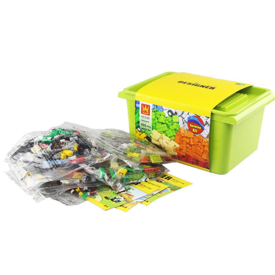 万格新品8100儿童小颗粒创意百变积木DIY益智拼装玩具58231礼盒装