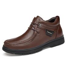男靴工廠 秋冬新款頭層牛皮高幫男鞋英倫真皮雪地靴短靴
