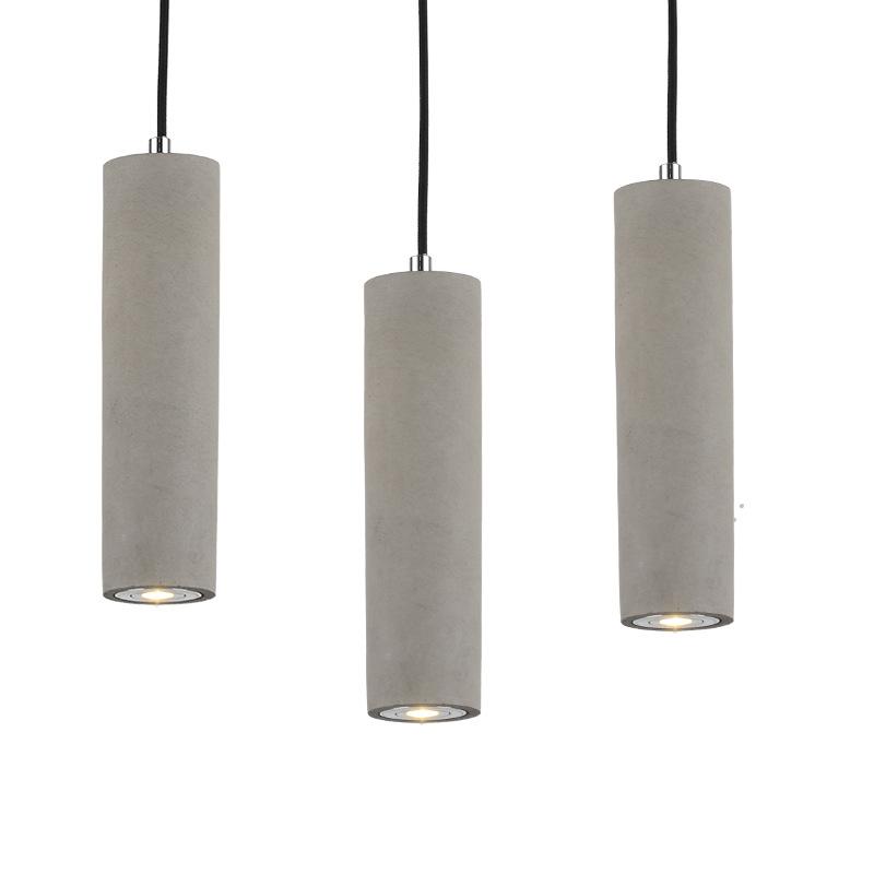 北欧简约小吊灯卧室个性创意美式简约餐厅工业风水管水泥单头吊灯