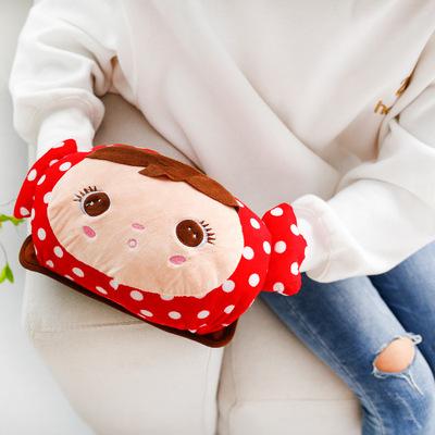 卡通暖手宝 充电式热水袋 暖水袋 双插手毛绒暖宝宝 【注水款】