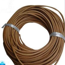 厂家批发牛皮条牛皮绳 圆皮绳本色真皮4.5MM牛皮绳 真皮跳绳