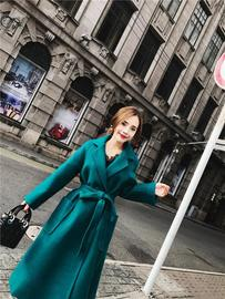 Autumn and winter temperament female long-sleeved loose three-dimensional cutting in the long coat coat tide