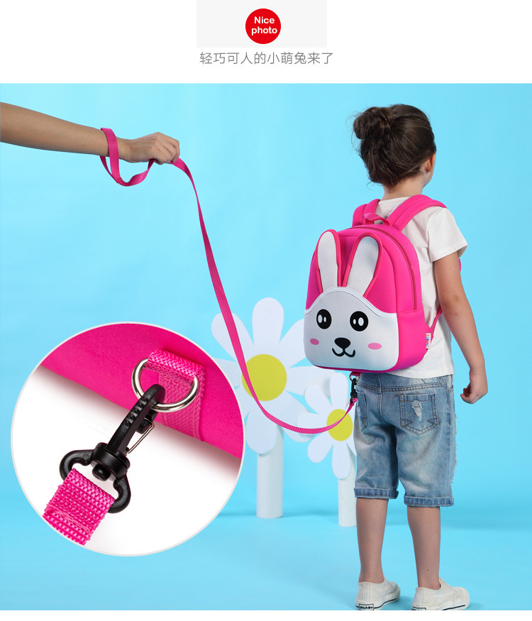 cute cartoon other Soft Cover Child backpack (Pink)NHKX0025-Pink