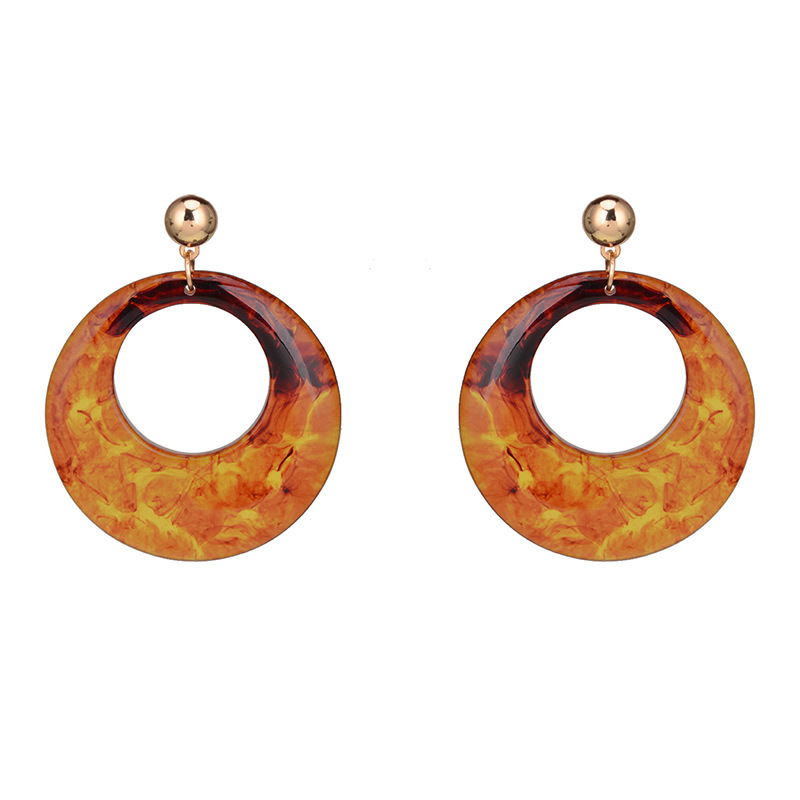 Geometric type Acrylicearring (brown)NHWF2923-brown