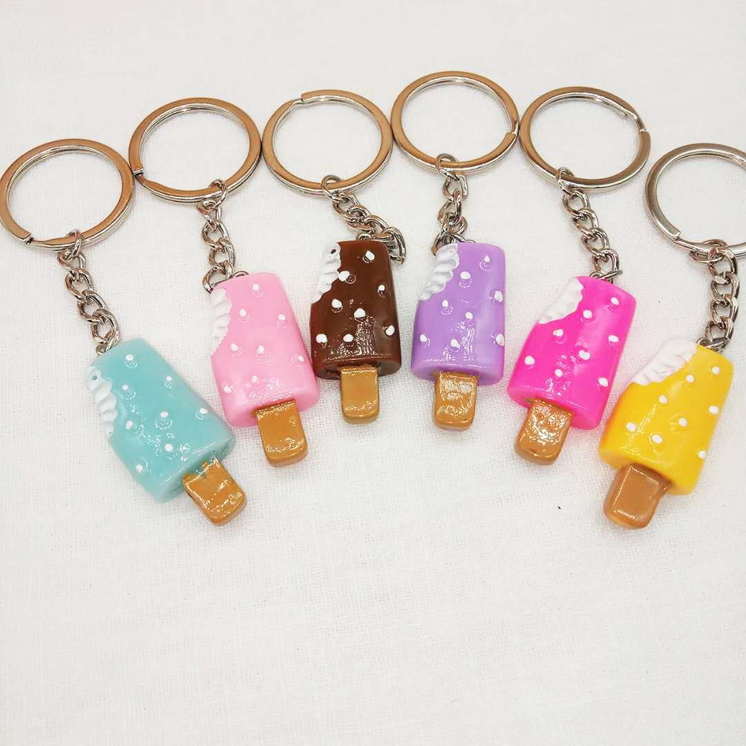 仿真食物冰棒钥匙扣挂件冰激凌甜点促销活动赠品两元超市小礼品