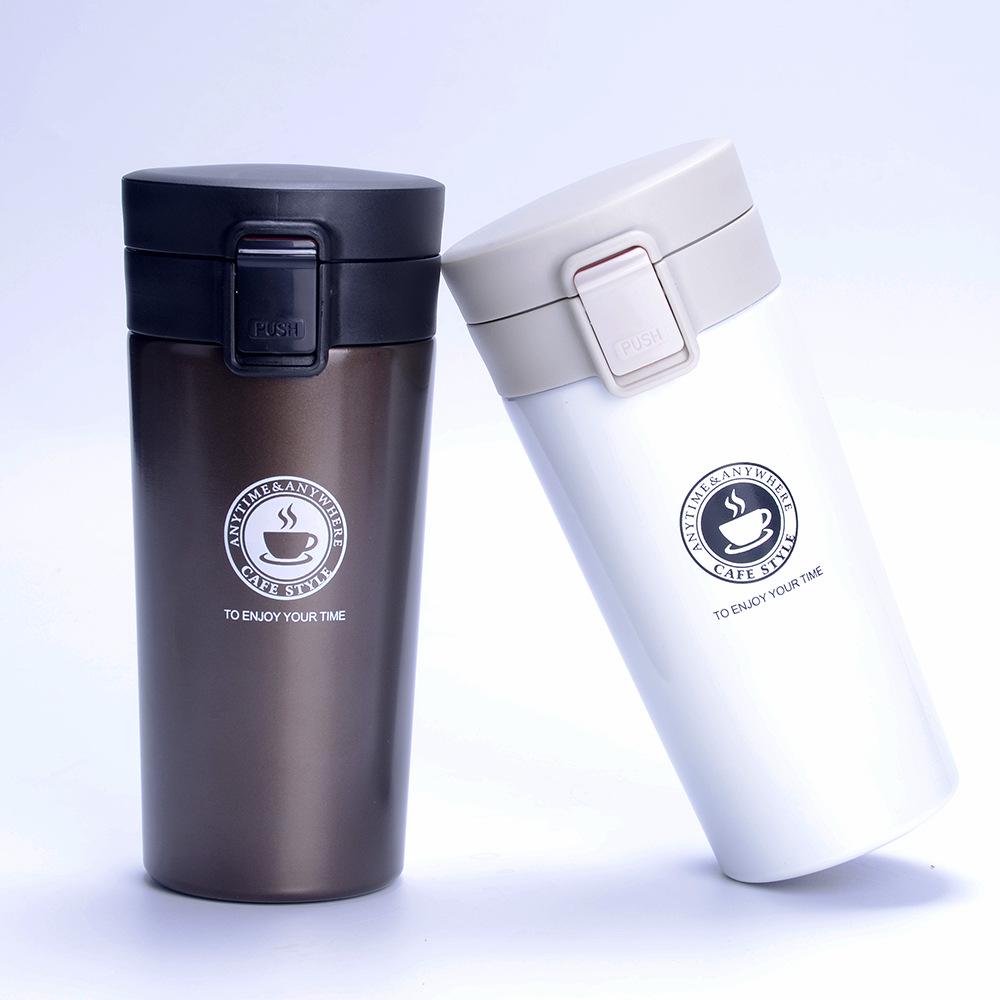 日式真空不锈钢咖啡保温杯礼品弹扣车载杯学生便携时尚保温杯批发