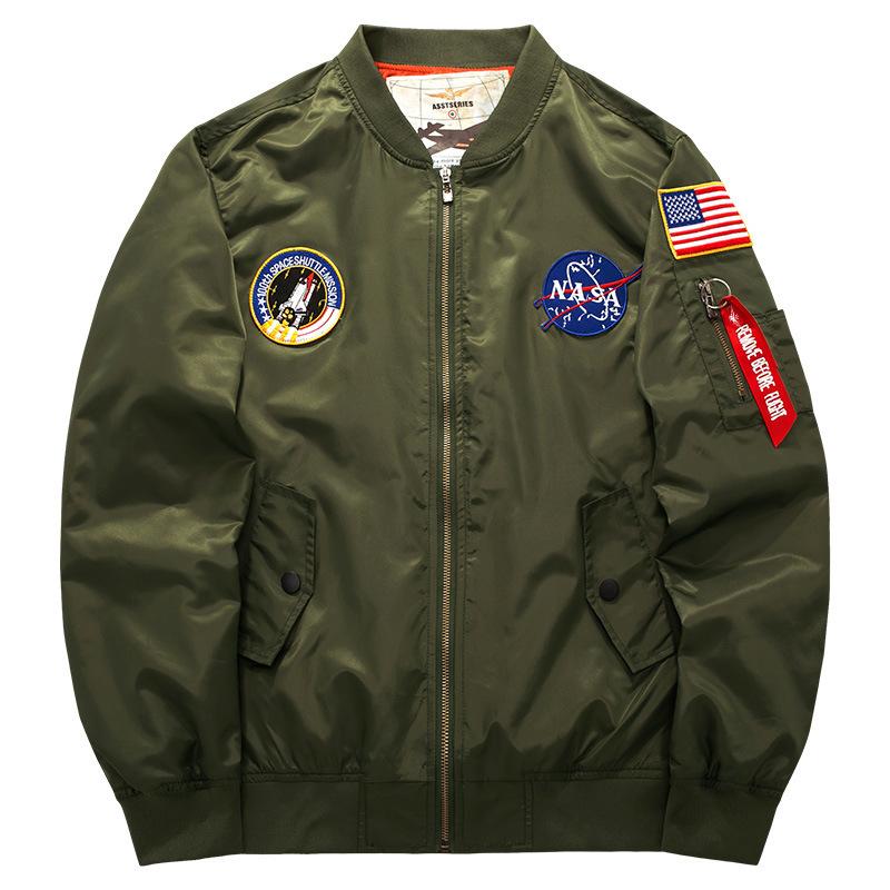 男装胖子休闲立领夹克外套空军一号MA01美式飞行员男春秋加肥大码