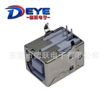 供应USB插座 B型母座 BF90度方形方口母座打印机USB接口