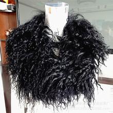 2021新款灘羊毛領子青果毛領真毛皮草圍j巾顏色規格可來樣定制
