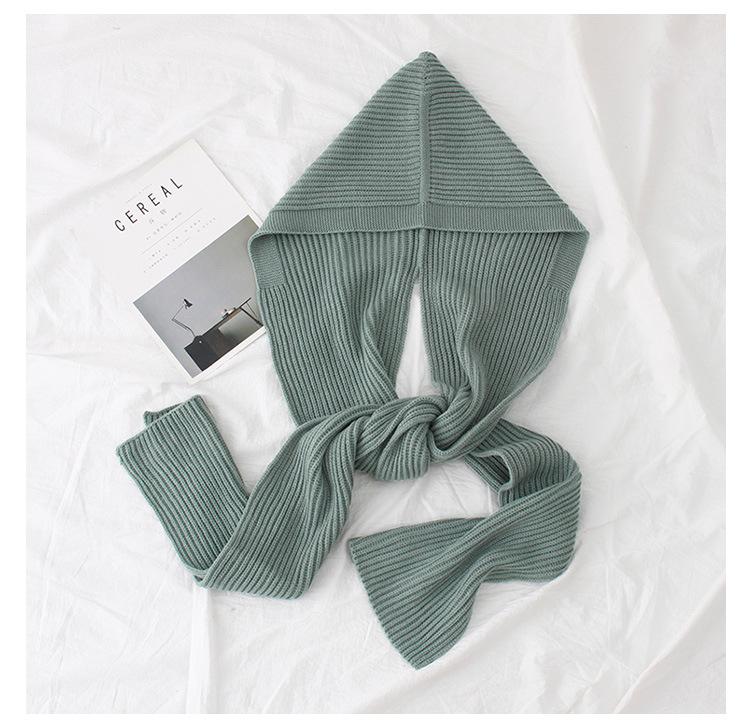 WoolenPolyester scarf (Powder - as shown)NHNBS1813-Powder - as shown