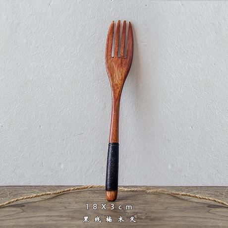 Winding muỗng nĩa sự kết hợp sáng tạo của dài xử lý gỗ muỗng khuấy muỗng Mucha sơn cũ món quà dao kéo bộ thìa và muỗng nĩa Bộ dao kéo