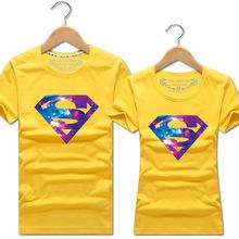 星空短袖t恤男半袖上衣潮創意個性短袖印花T恤男女情侶裝一件代發