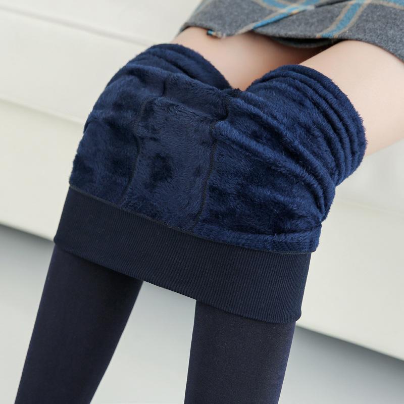 B009 加绒加厚珍珠绒打底裤秋冬新款踩脚保暖外穿一体裤女230g