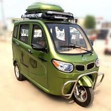 迈驰宝马新款全封闭带棚三轮摩托车 残疾人带蓬燃油助力车