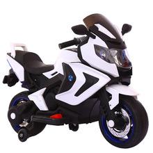 兒童電動摩托車三輪車2-10歲大號男女孩警車寶寶可坐電瓶車