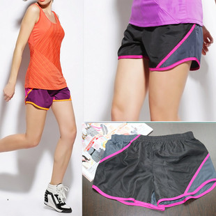Sports shorts women beach pants running quick-drying wide-leg pants with large size 002