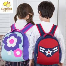 柠檬宝宝韩版儿童书包幼儿园布包宝宝双肩轻巧个性拉拉包品牌直供