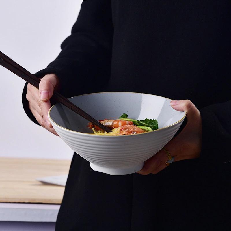 定制陶瓷拉面碗创意斗笠汤碗家用陶瓷餐具面馆酒店餐具重庆小面碗
