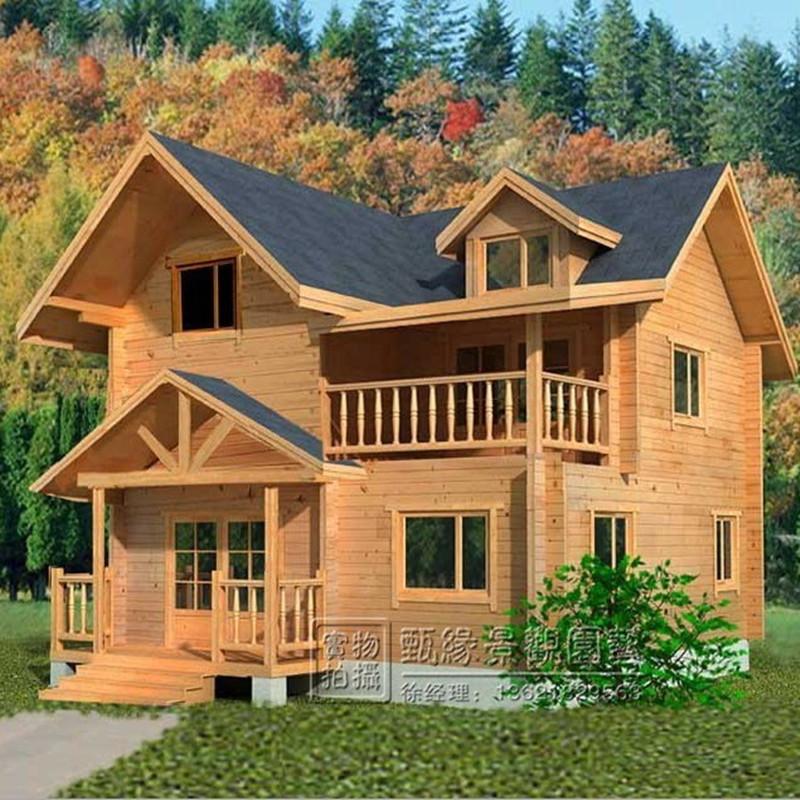 防腐木木屋别墅岗亭户外大型设备房子实木制储物间移动售货亭订做