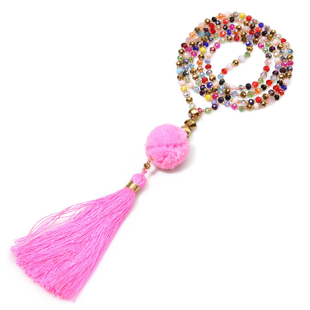 Crystal&CZ Fashion Tassel necklace(HN1704-D) NHGW0431-HN1704-D