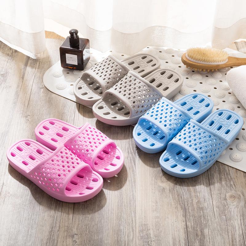 浴室拖鞋EVA酒店批发家居拖鞋镂空漏水轻便拖夏季情侣透气凉拖鞋