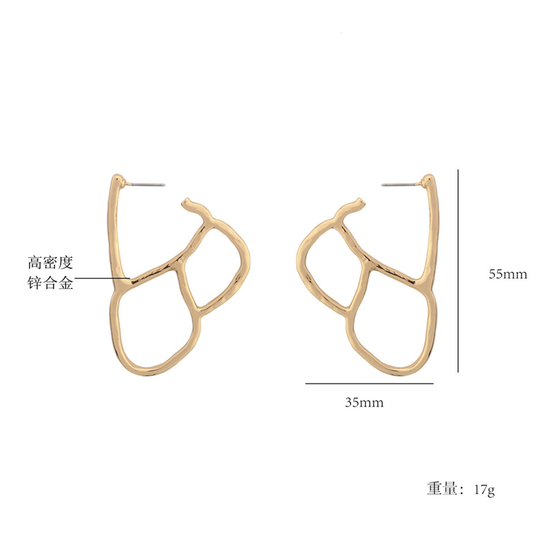 Occident and the United States alloy plating earring (Gold)NHBJ0312-Gold