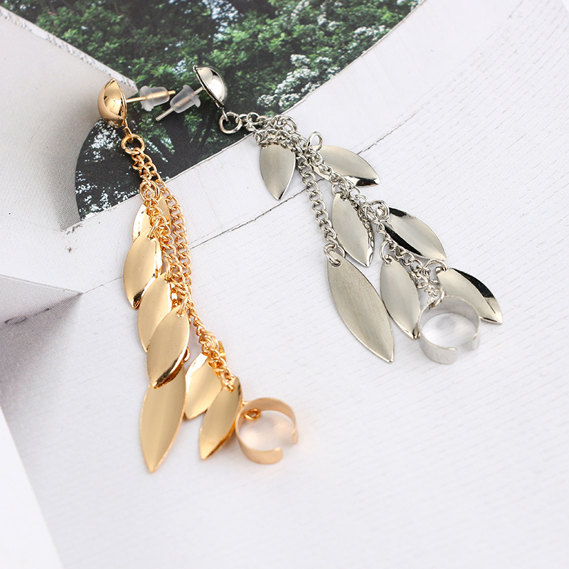 Europe and the United States alloy plating earring (Silver - single only)NHGY0569-Silver - single only