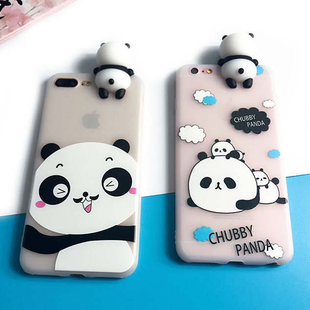 Cartoon chubby little panda iPXsm 7plus mobile phone case soft r9/r11/x20 ultra-thin shell i6p couple XR
