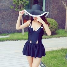泰国代购泰国潮牌 背后交叉露背后背蝴蝶结连体裙装泳衣 度假海边