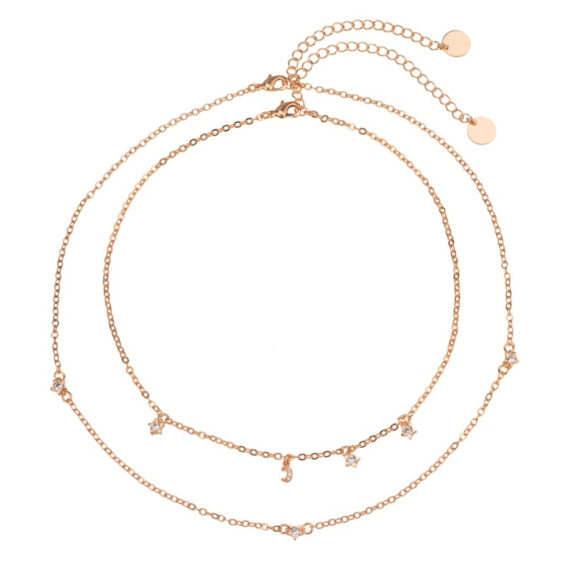 other copper Diamond necklace (Gold)NHYT0521-Gold